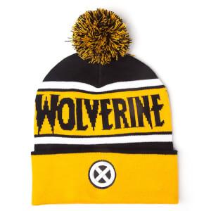 Marvel X-Men Men's Wolverine Beanie Hat with Pompom - Yellow