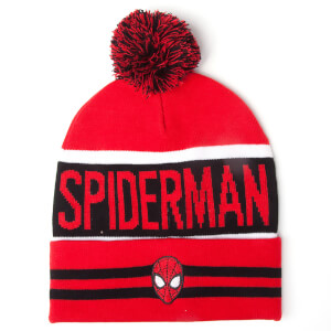 Marvel Spider-Man Men's Big Spidey Logo Beanie Hat - Red