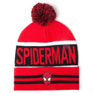 Marvel Spider-Man Men's Big Spidey Logo Beanie Hat - Red