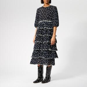 Ganni Women's Lowell Dress - Total Eclipse