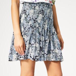 Ganni Women's Elm Georgette Skirt - Heather