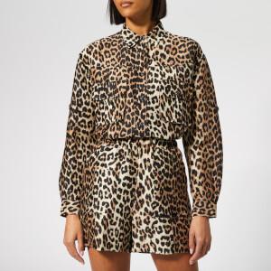 Ganni Women's Cedar Shirt - Leopard