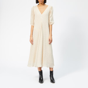 Ganni Women's Elm Georgette Dress - Tapioca