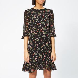 Ganni Women's Elm Georgette Dress - Black