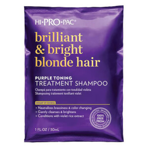 HI PRO PAC Brilliant and Bright Blonde Hair Treatment Shampoo 30ml
