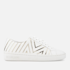 MICHAEL MICHAEL KORS Women's Whitney Leather Cupsole Trainers - Optic/Pale Gold