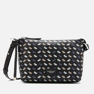 Radley Women's Multi Dog Medium Cross Body Zip Top Bag - Black
