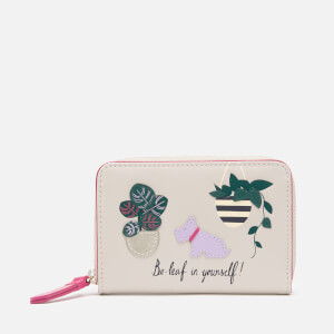 Radley Women's Be-Leaf In Yourself Small Purse Zip Around - Dove Grey