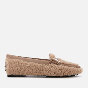 Tod's Women's Gomma Fur Loafers - Tabacco