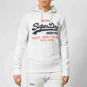 Superdry Men's Sweatshirt Shop Duo Hoody - Ice Marl