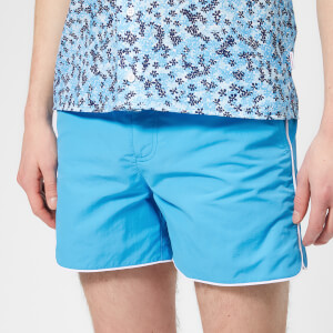 Orlebar Brown Men's Setter Piping Swim Shorts - Bahama Blue/White