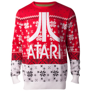 Atari Logo Christmas Knitted Jumper - Red