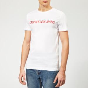 Calvin Klein Jeans Men's Institutional Logo Slim T-Shirt - Bright White