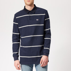 Tommy Jeans Men's Classic Rugby Top - Black Iris/Light Grey