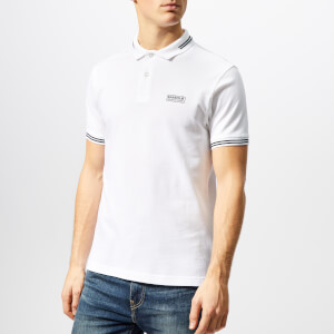 Barbour International Men's Essential Tipped Polo Shirt - White