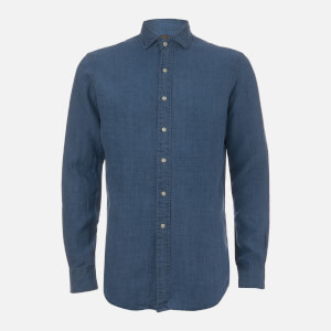 Polo Ralph Lauren Men's Linen Spead Estate Shirt - Blue