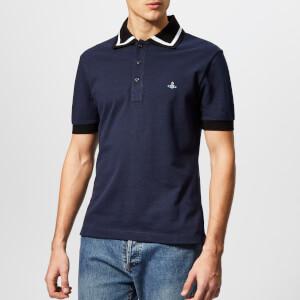 Vivienne Westwood Men's Pique Polo Shirt - Navy Blue