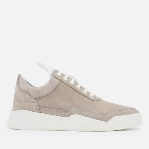 Filling Pieces Men's Collar Perforated Ghost Trainers - Taupe