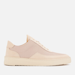Filling Pieces Men's Mesh Low Mondo Ripple Trainers - Beige