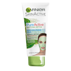 Garnier Pure Active Matcha Detox Pore Unclogging Face Mask 100ml