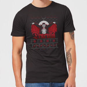 Universal Monsters Dracula Kerst T-Shirt - Zwart