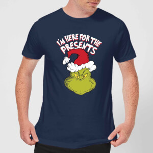T-Shirt de Noël Homme Le Grinch - I'm Here For The Presents - Bleu Marine