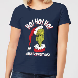 The Grinch Ho Ho Ho Women's Christmas T-Shirt - Navy