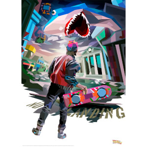 Back to the Future Illustrative Limited Edition Art Print