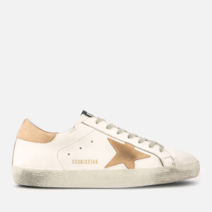 Golden Goose Deluxe Brand Men's Superstar Leather Trainers - White/Sand Star