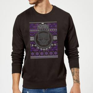 Marvel Avengers Black Panther Christmas Sweatshirt - Black