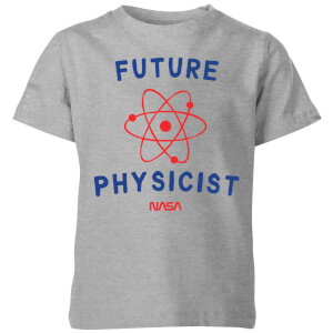 NASA Space Cadets Future Physicist Kids' T-Shirt - Grey