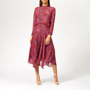 Whistles Women's Abstract Animal Carlotta Dress - Pink/Multi