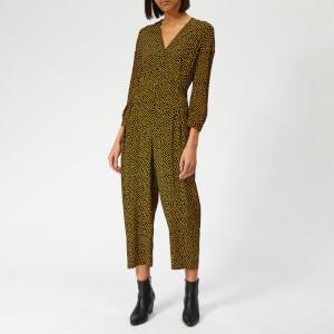 Whistles Women's Confetti Heart Tie Front Jumpsuit - Yellow/Multi