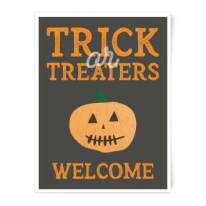Trick or Treaters Welcome Pumpkin Art Print