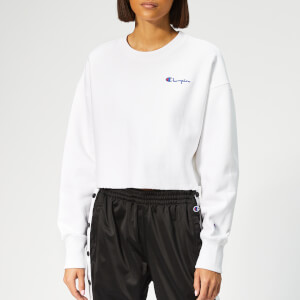 Champion Women's Cropped Crew Neck Sweatshirt - White