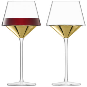 LSA Space Wine Goblets - Gold (Set of 2)