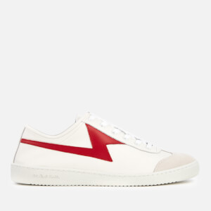 PS Paul Smith Men's Ziggy Leather Lightning Trainers - White/Red