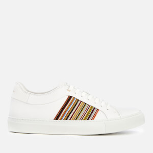 Paul Smith Men's Ivo Leather Cupsole Trainers - White Multistripe