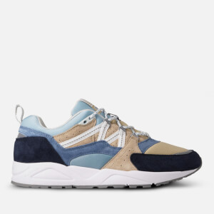 Karhu Men's Fusion 2.0 Runner Style Trainers - Moonlight Blue/Pale Olive Green