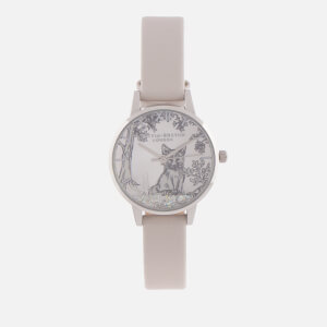 Olivia Burton Women's Snow Globe Watch - Blush & Silver
