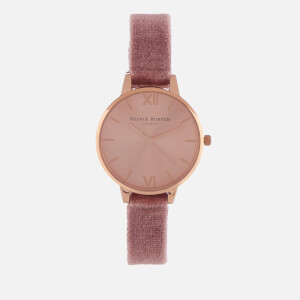 Olivia Burton Women's Sunray Dial Velvet Watch - Rose & Rose Gold