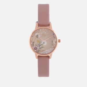 Olivia Burton Women's The Wishing Vegan Watch - Rose Sand & Rose Gold