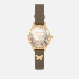 Olivia Burton Women's Enchanted Garden Watch - London Grey & Gold