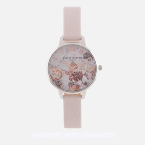 Olivia Burton Women's Marble Florals - Pink, Rose Gold & Silver