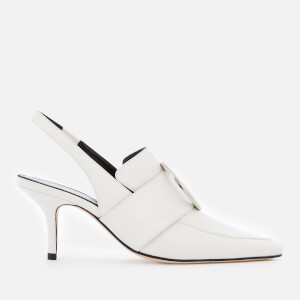 Dorateymur Women's Eagle Leather Sling Back Court Shoes - White