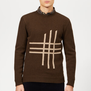 Oliver Spencer Men's Blenheim Crew Knit Jumper - Tambrook Chocolate