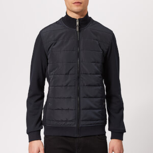 Ted Baker Men's Mowntan Quilted Funnel Neck Jacket - Navy