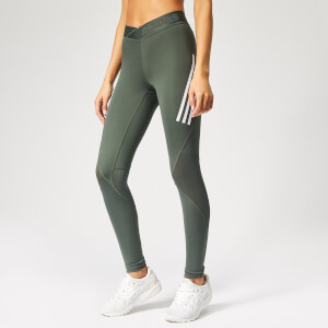adidas Women's Alphaskin Sport 3 Stripe Tights - Legend Ivy