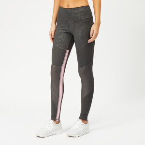 adidas Women's Believe This Floral Long Tights - Grey Six