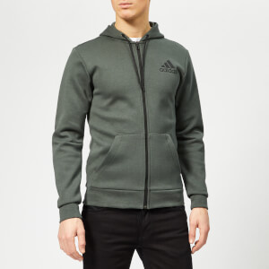 adidas Men's MH Plain Full Zip Hoody - Legend Ivy